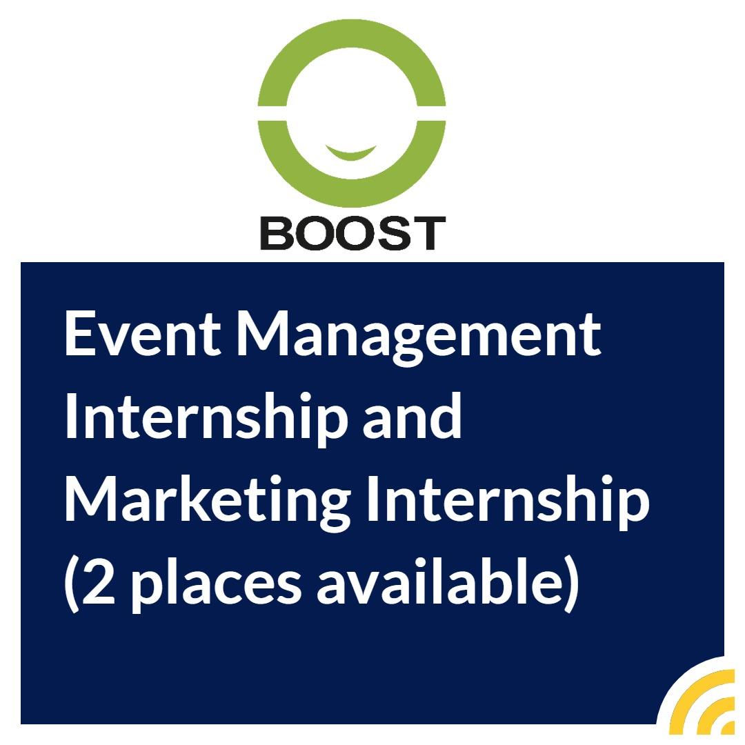 Event Management Internship and Marketing Internship (2