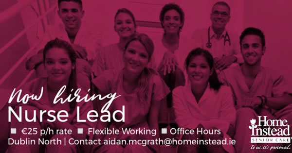 Nurse Lead - Dublin North - Home Instead Senior Care - Dublin | JobAlert
