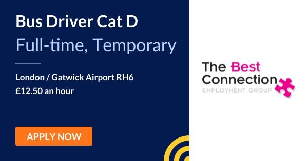 Bus Driver Cat D - The Best Connection Employment Group